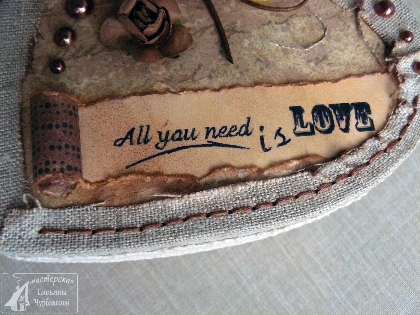 картонаж шкатулка в форме сердца