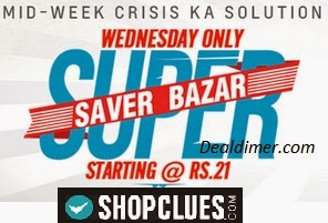 ShopClues Wednesday Super Saver Bazaar (Up to 98% Off)