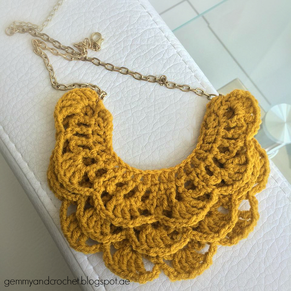ALL ABOUT CROCHET: Free Pattern: Crochet Bib Necklace