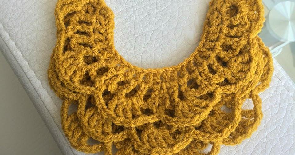 All Free Crochet : ALL ABOUT CROCHET: Free Pattern: Crochet Bib Necklace