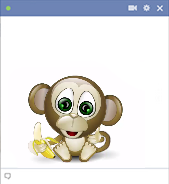 Monkey animated emoticon for Facebook