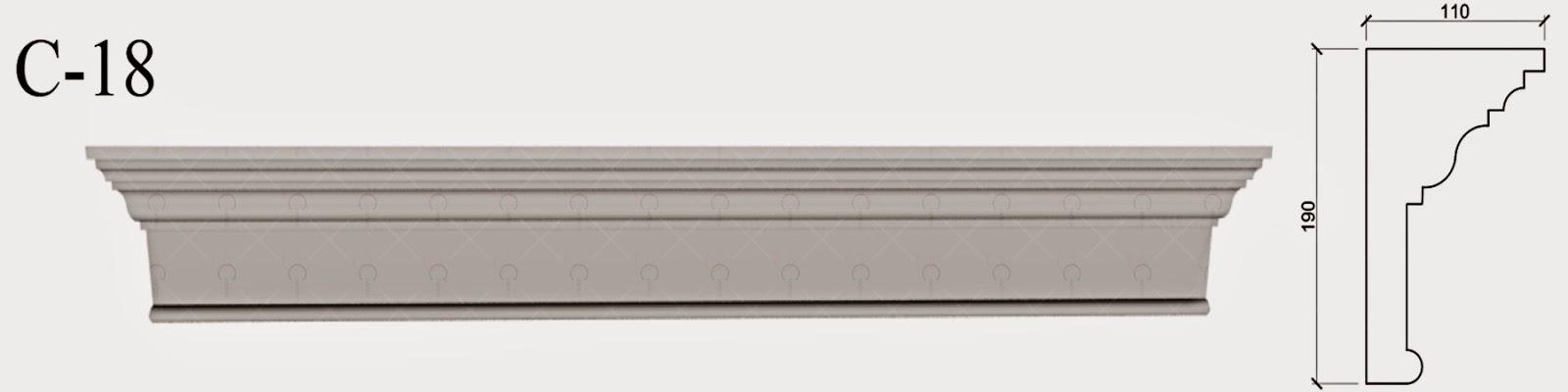 Cornisa Exterior - Baghete Decorative Polistiren fatade case pret, producator , modele, imagini