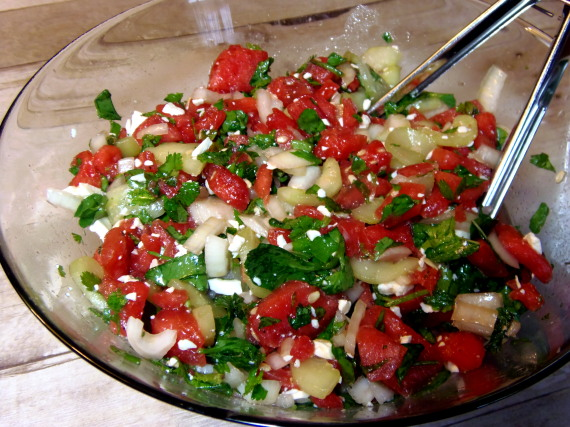 Watermelon-Cucumber Salad Recipe