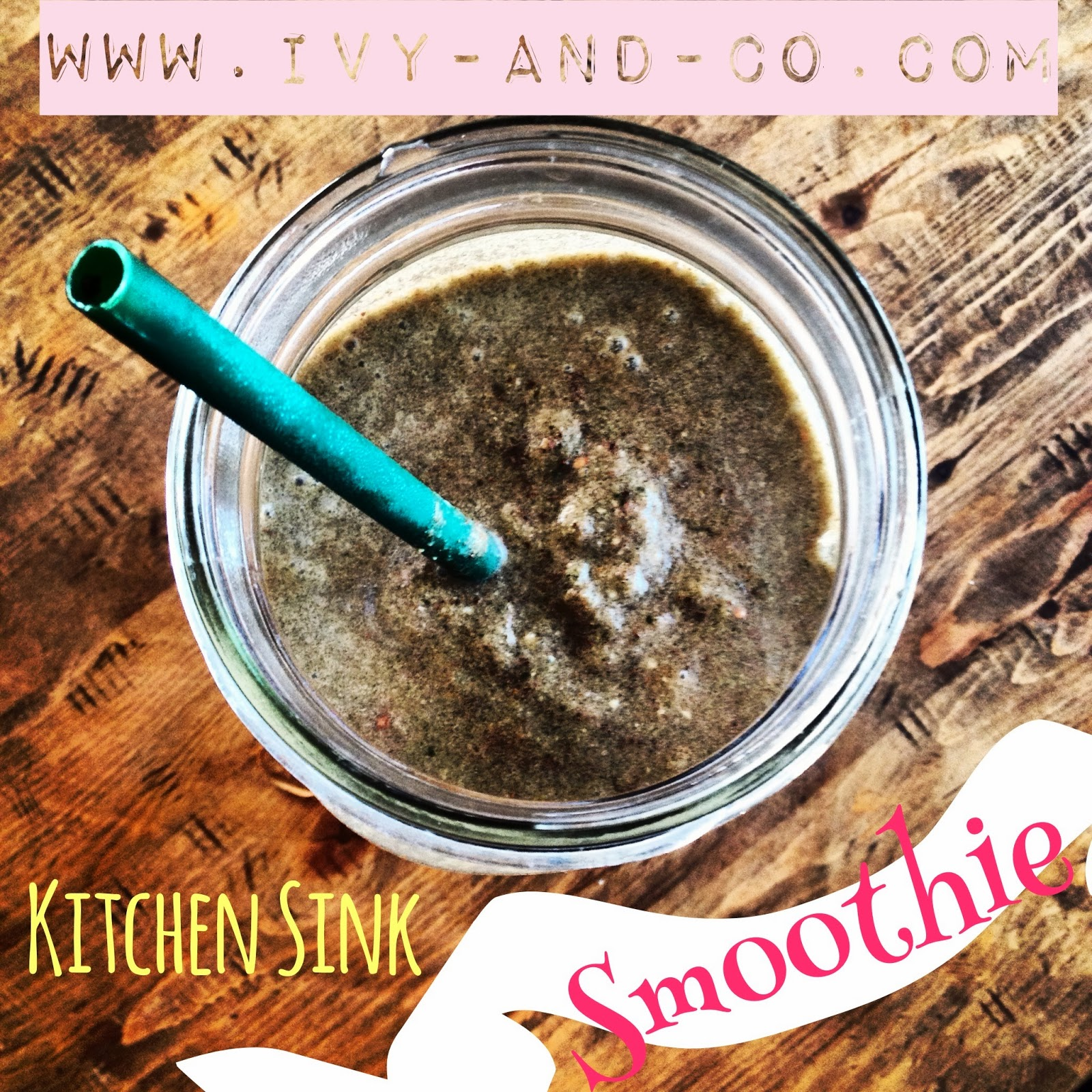 kitchen sink green smoothie on table