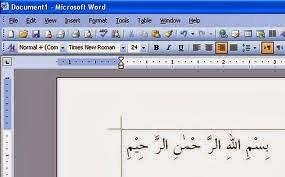 menulis tulisan arab di microsoft word