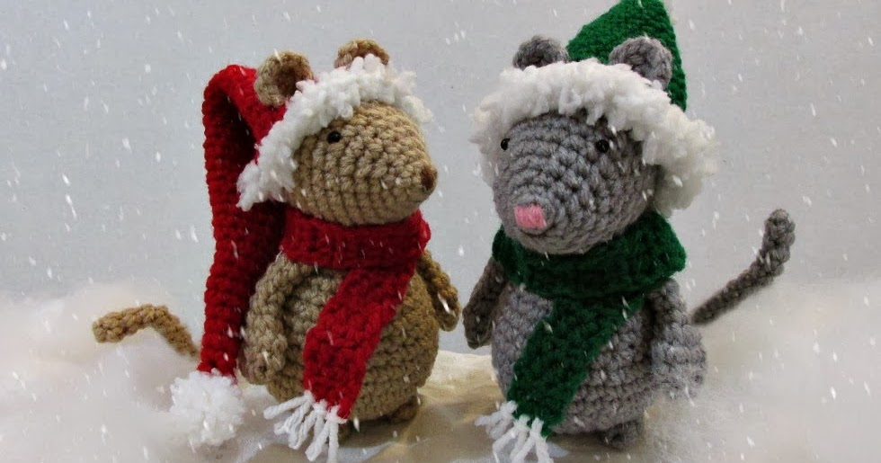 Legend Of Zelda Amigurumi Patterns : Crochet Christmas Hat and Scarf For Mouse ~ Amigurumi To Go