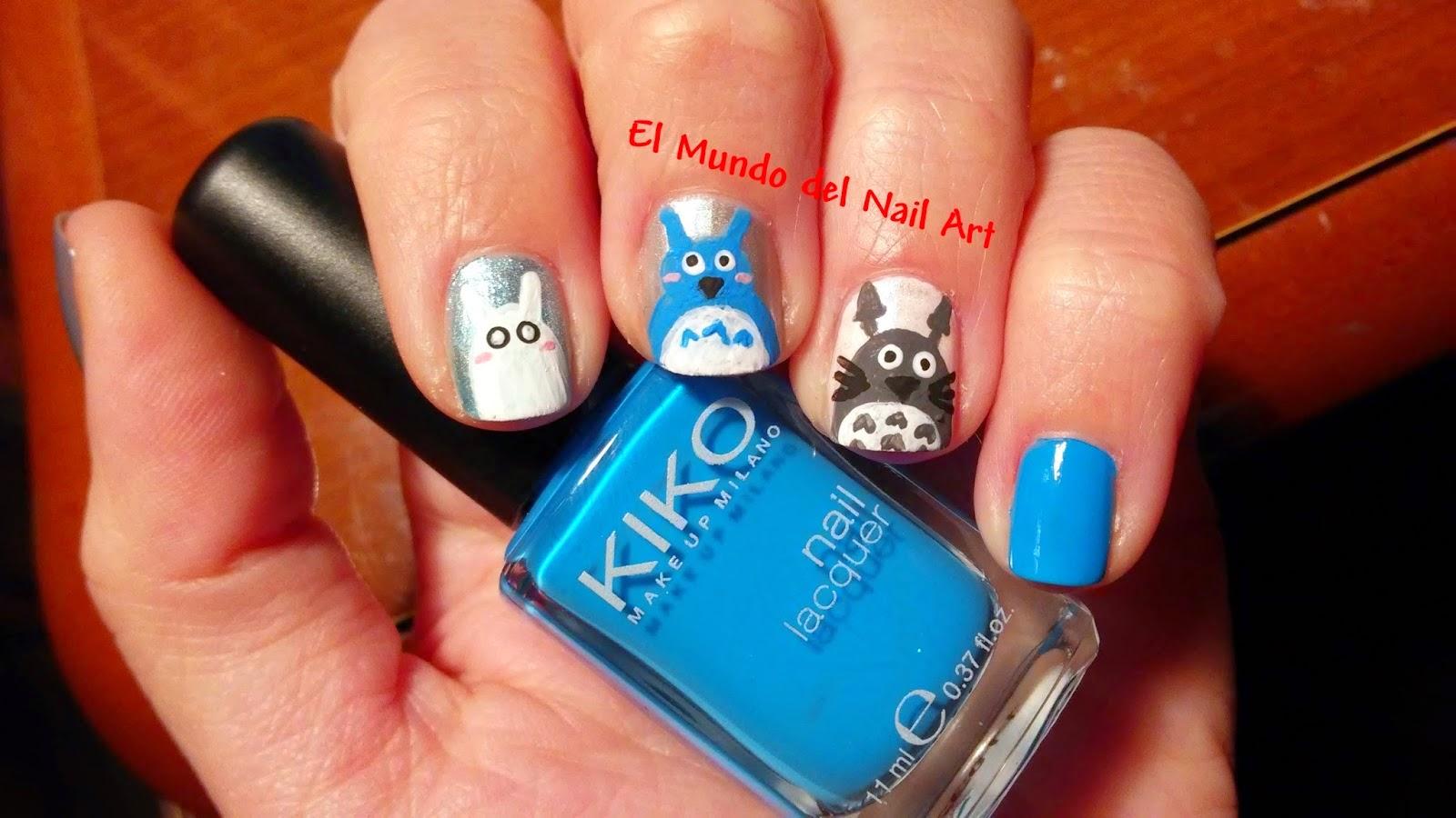 Entre estética y cosmética: #RetoFRIKI2015 - Abril: Manicura Totoro ...