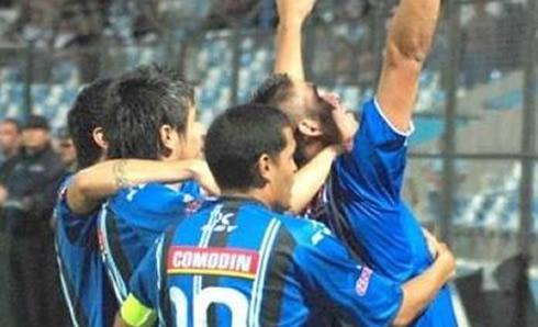 Gimnasia de Jujuy, festeja el gol
