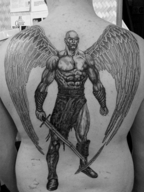 Warrior Angel Tattoos