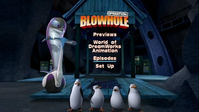 Los Pinguinos de Madagascar Operacion Blowhole 2012 DVDR Menu Full Español