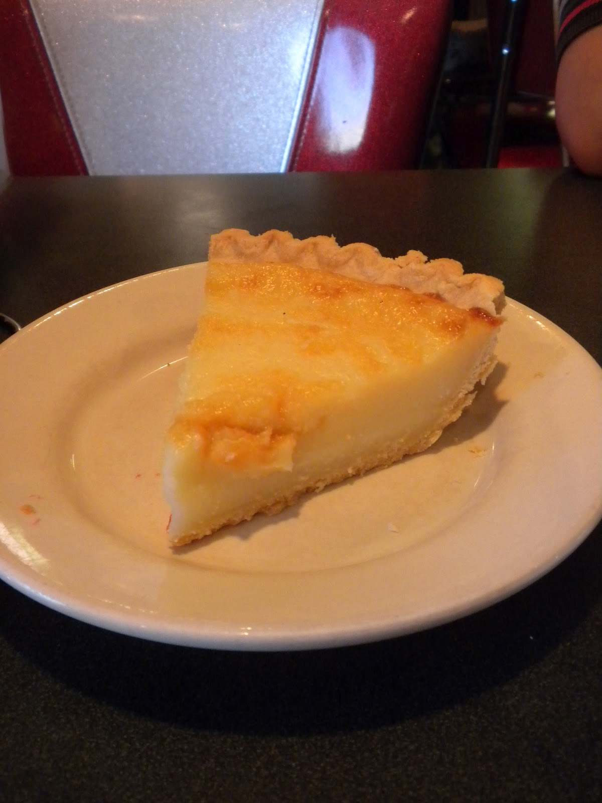 A slice of Wick's Sugar Cream Pie