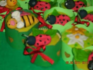 cupcake abelinha e joaninha