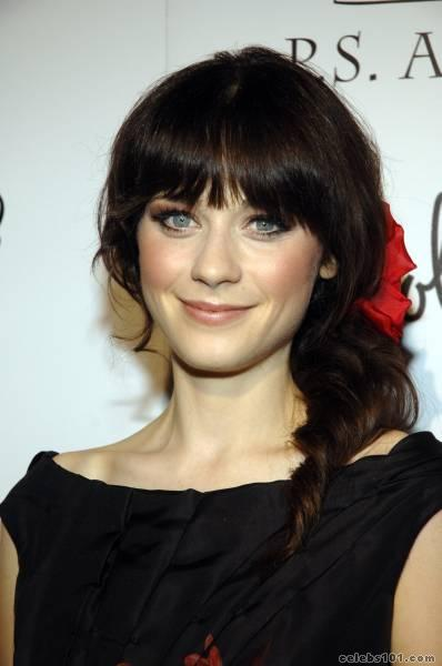 Zooey Deschanel Bangs Dyed and Gone to Heave...