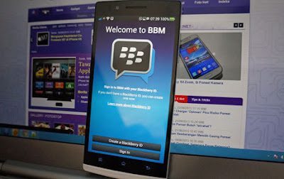 Tampilan BBM Untuk Android