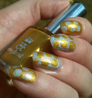 Blobbicure with A England Holy Grail and  SV by Sparkly Vernis Gilded Lemon Drops