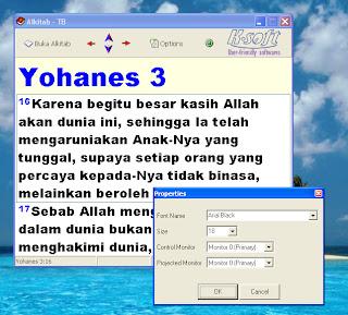SOFTWARE MENAMPILKAN ALKITAB DI LCD / PROYEKTOR
