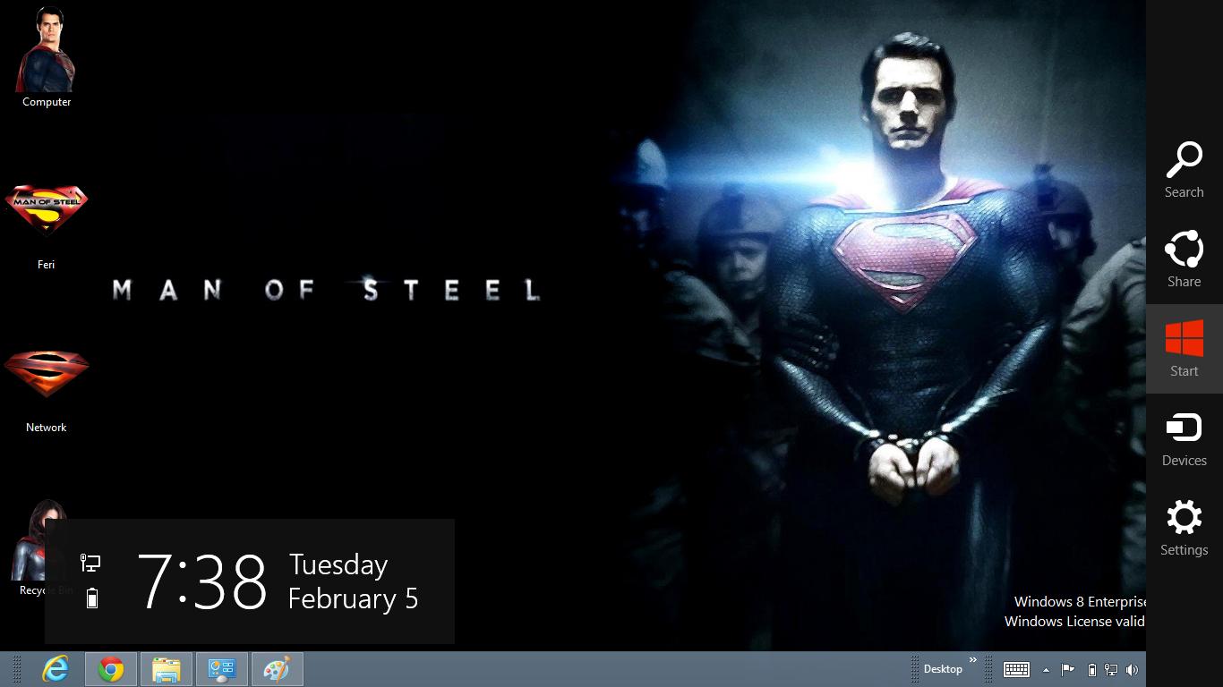 Gratis tema windows 7 superman man of steel 2013 theme for windows 8