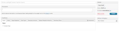 WooSidebars new widget area