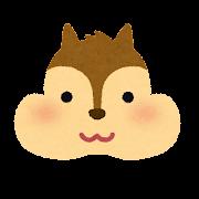 リスの顔のイラスト