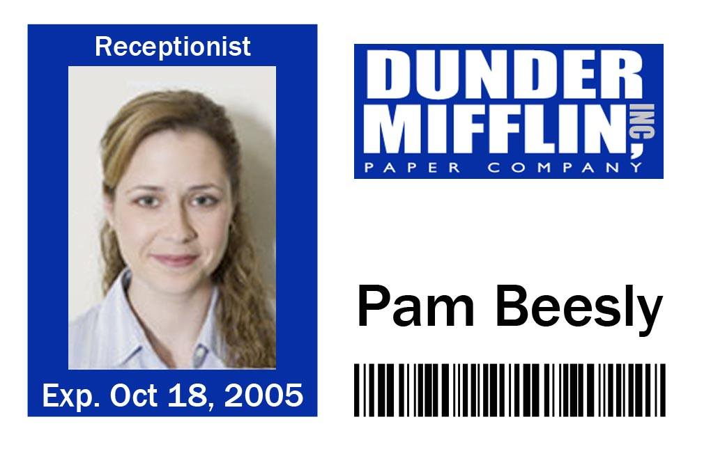 Wild image pertaining to dunder mifflin name tag printable