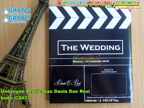 Undangan Pernikahan Dania Dan Rosi