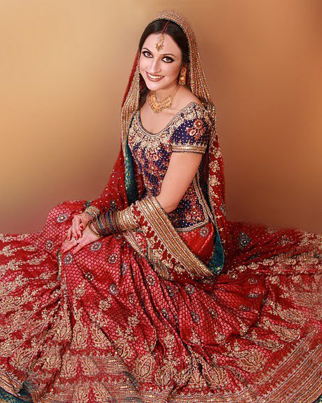Pakistani indian fashion bridal wear marriage dresses for Indian wedding dresses usa