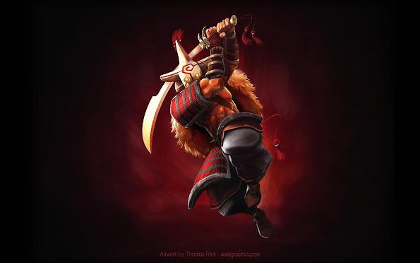yurnero the juggernaut dota 2 hero hd wallpaper image picture