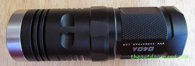 Sunwayman D40A [4xAA Flashlight] - Bottom View