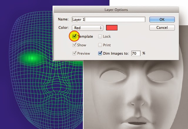 Wireframe Face with the Envelope Distort Tool
