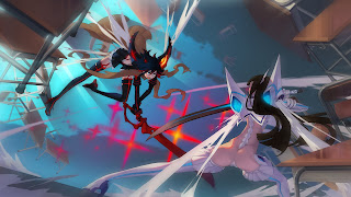 kill la kill matoi ryuuko vs kiryuin satsuki girls fighting sword anime