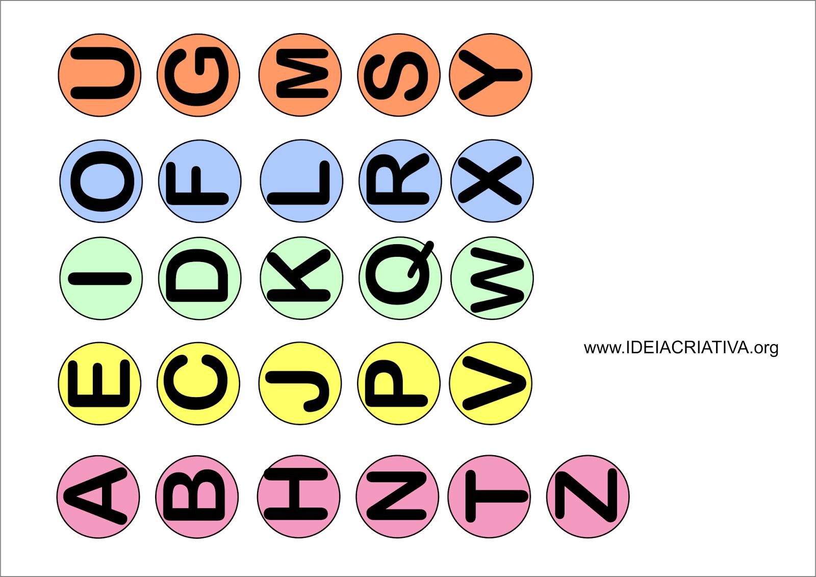 Alfabetos Bastão e Cursivo para Colar na tampa de Garrafa Pet