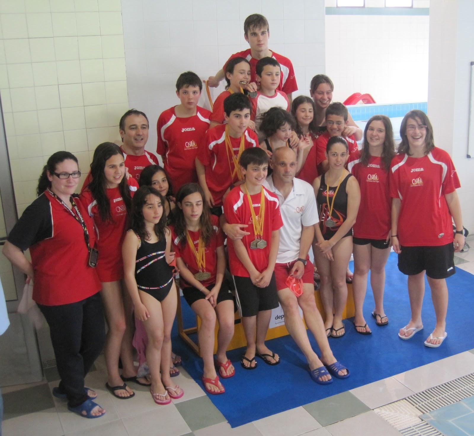 Club nataci n bajo arag n resultados final jj ee de for Piscina climatizada teruel