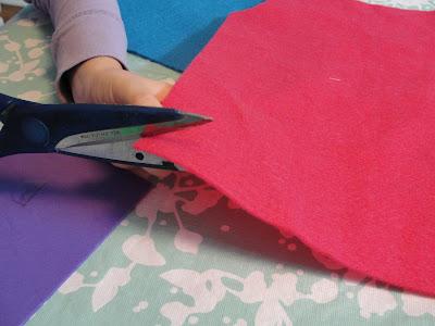 cutting felt strip
