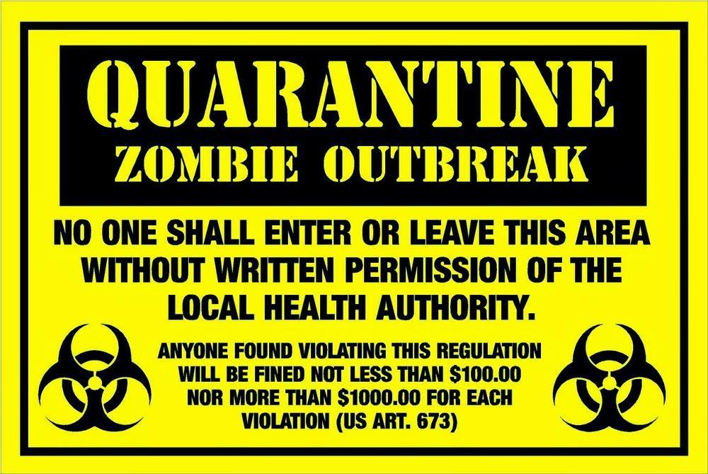 Red Wheelbarrow: Hallo... Zombie Apocalypse Survival Kit Labels