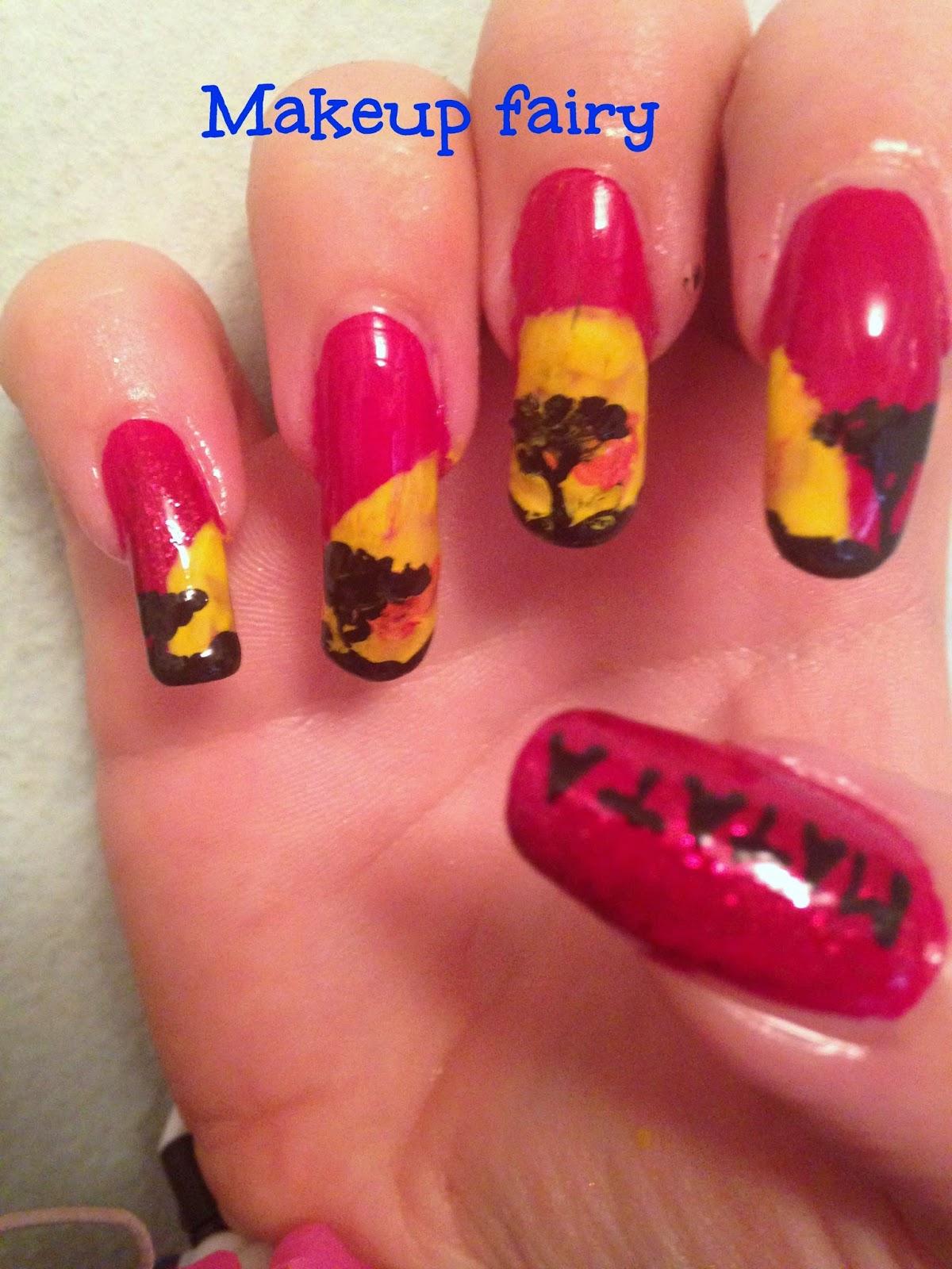 Tinklesmakeup: the lion king nail art -hakuna matata!
