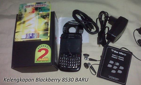 Kelengkapan Blackberry 8530 Baru