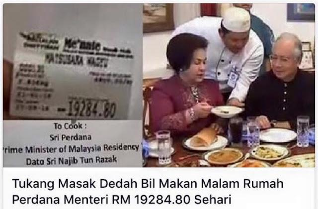 Bil Makanan Rumah Perdana Menteri RM 19284.80 Sehari, Ini Jawapan Me'nate Steak Hub