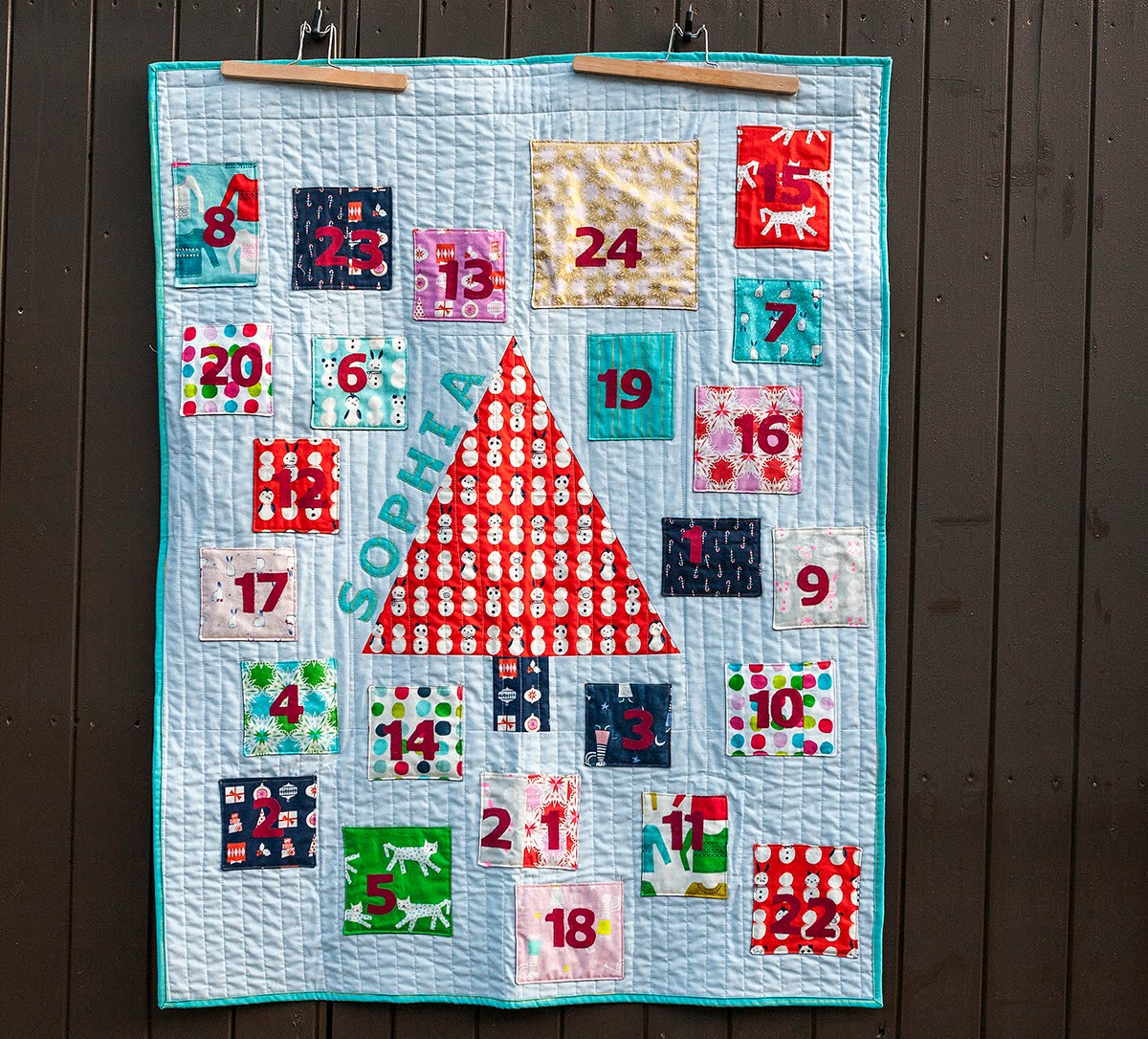 needles and lemons: Advent Calendar for my nieces - part 2- : advent calendar quilt - Adamdwight.com