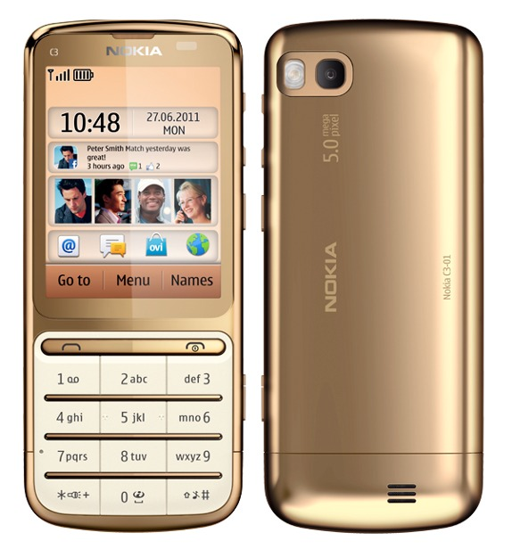 TECHZONE: Nokia C3-01 Gold Edition with 1GHz upgraded ...
