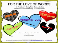 Vocabulary - FOR THE LOVE OF WORDS! Task Cards