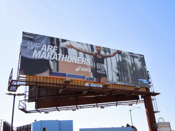 Asics We are marathoners billboard
