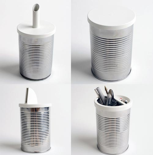 25 creative ways to reuse cans. Black Bedroom Furniture Sets. Home Design Ideas