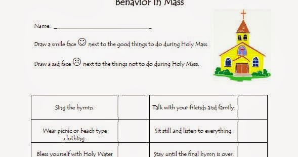 The Catholic Toolbox Behavior In Mass Worksheet – Corporal and Spiritual Works of Mercy Worksheet