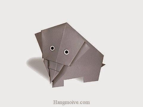 Cách gấp, xếp con Voi bằng giấy origami - Video hướng dẫn xếp hình - How to make a Elephant