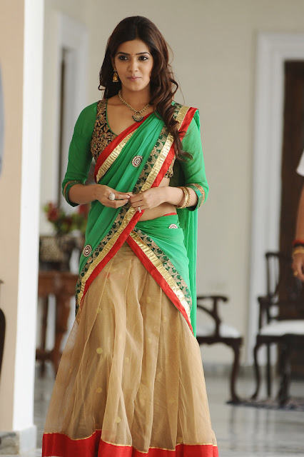 Actress Samantha Half Saree Photos