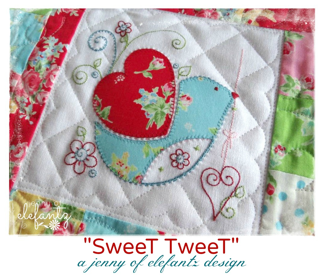 Sweet tweet quilt pattern