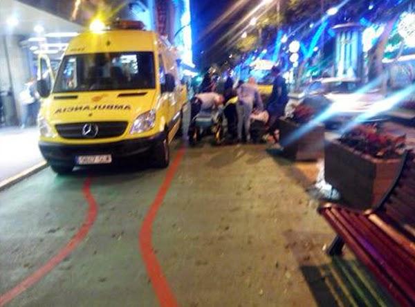 Heridos por temporal Las palmas de Gran Canaria mesa y lopez
