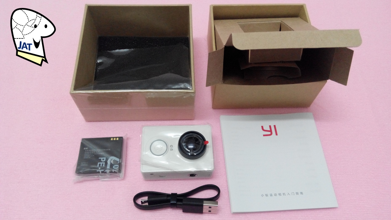 Xioami Yi Action Camera - device and accessories.