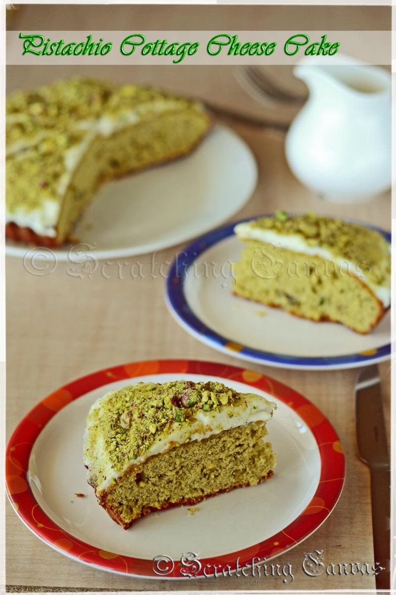 Cottage Cheese Pistachio Cake
