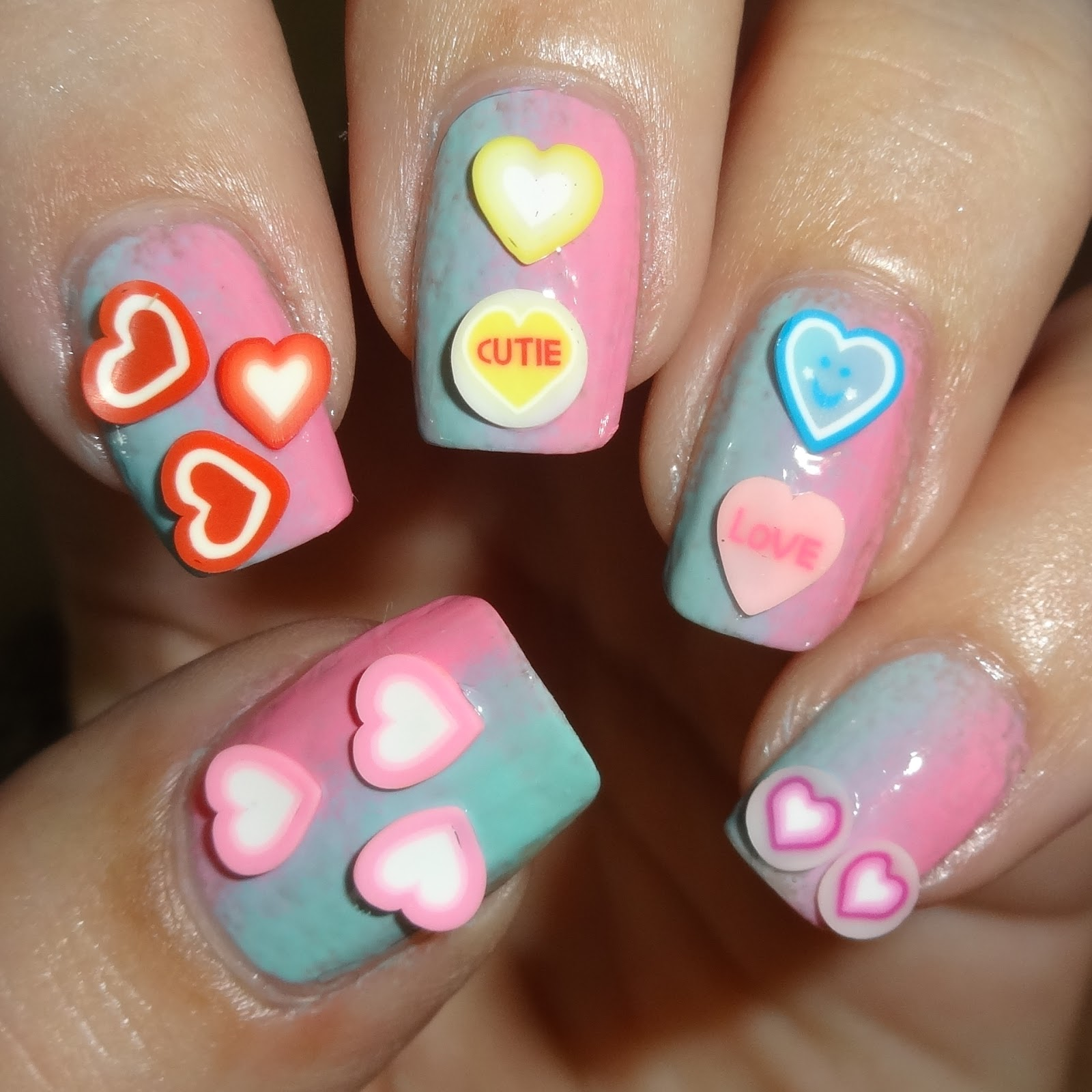 Wendys Delights Heart Fimo Nail Decals From Charlies Nail Art